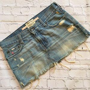 Abercrombie & Fitch  Distressed Mini Skirt